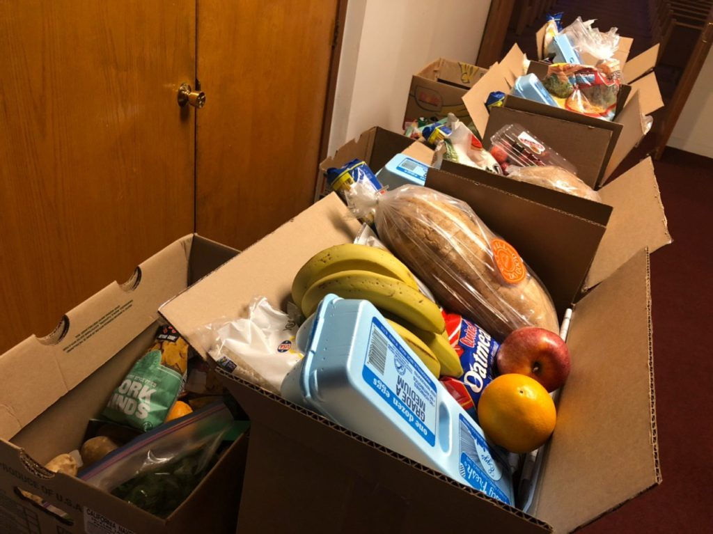 Some of the items distributed in Detroit