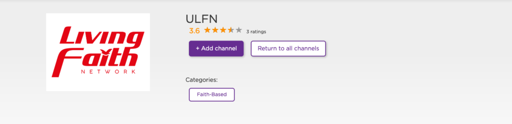 ULFN ROKU CHANNEL