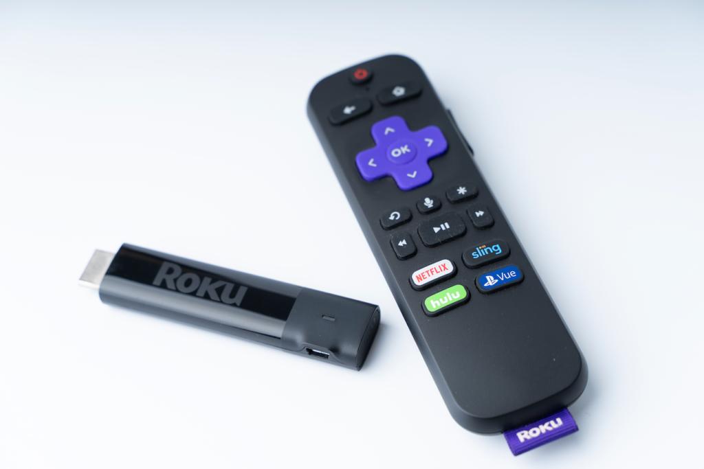 Roku remote control and Roku stick